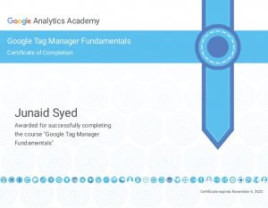 Tag Manager Certificate